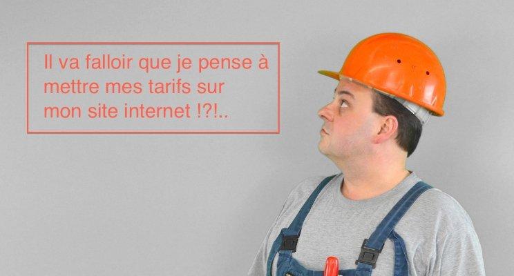 obligation affichage tarif  artisan serrurerie sur le web